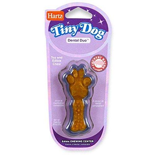 Hartz 02413 Assorted Tiny Dog Dental Duo Dog Toy Edible Chew Combo
