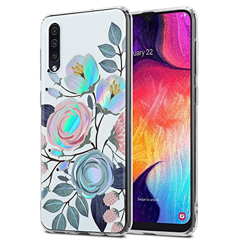 Cadorabo Funda Compatible con Samsung Galaxy A50 / A50s / A30s - Carcasa en Flores DE PEONIAS - Carcasa para Teléfono Móvil Hecha de Silicona TPU con Patrón Floral - Protectora Trasera Ultradelgada