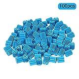 100 Unidades Filtro Azul, Excelente Filtro de Acuario Medios, para Tanque de Pescado Bio-Bolas con Decoración Anémona Artificial de Mar, 15 * 16mm