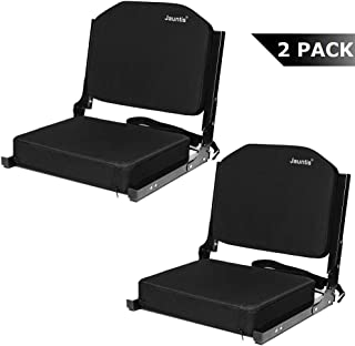 Jauntis Stadium Seats for Bleachers, Bleacher Seats with Ultra Padded Comfy Foam Backs and Cushion, Wide Portable Stadium Chairs with Back Support and Shoulder Strap