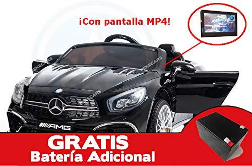 Mercedes SL65 Negro Metalizado 12V con MP4 y Batería Extra