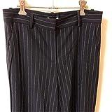 安室奈美恵 安室ちゃん H&M エイチアンドエム ストライプ 黒ブラック ズボン ワイドパンツ 女性 レディース