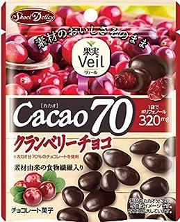正栄デリシィ 果実Veil カカオ70クランベリーチョコ スタンドパウチ 41g×10袋