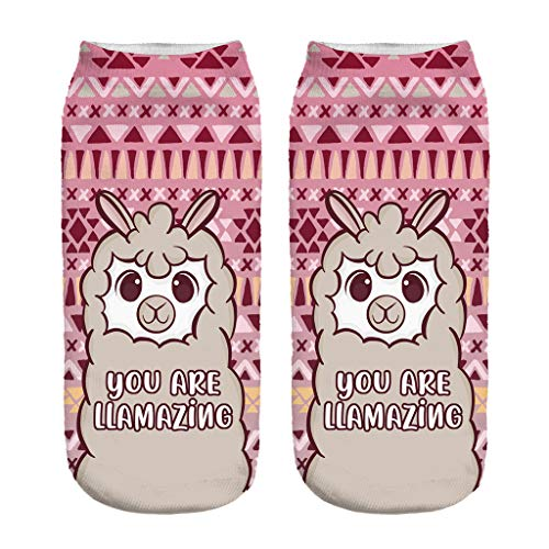 COZOCO Impresión Digital 3d Calcetines De Alpaca Calcetines Invisibles Adultos Calcetines Mágicos (una talla, A)