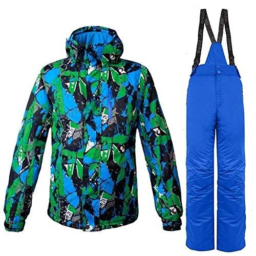 JSYDTX Herrenberge wasserdichte Ski-Jacke windundurchlässiger Regen Anzüge Herren Jacken Hosen Snowboard-Sets 2019 Winter-Starke warme Strumpfhose Männlich (Farbe : Men 06, Size : XXXL)