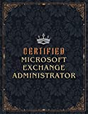 Microsoft Exchange Administrator Lined Notebook - Certified Microsoft Exchange Administrator Job Title Working Cover Daily Journal: Goals, Gym, Small ... Work List, 21.59 x 27.94 cm, Business