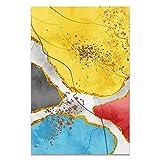 U/N Cuadro Moderno con Estampado de Acuarela, Carteles e Impresiones de Bloques de Colores Abstractos para Sala de Estar, Arte de Pared, Lienzo, Pintura al óleo, decoración para el hogar-3
