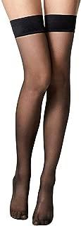"""GRAPPLE DEALS Girl""""s Long Stockings Sheer Visible Stocking/Tights. (Black-3 Pcs)"""