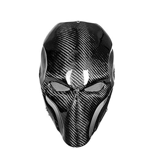 Maske - Carbon Helm Carbon Maske Halloween Maske Männliche Maske Street Dance Ball Maske (Color : A)