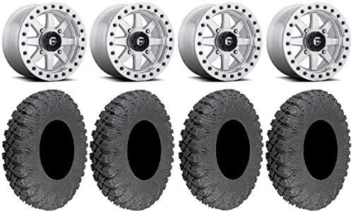 """Bundle - 9 Items: Fuel Maverick Bdlk Mh 15"""" Wheels 32"""" Race Tires [4x137 Bolt Pattern 12mmx1.5 Lug Kit]"""