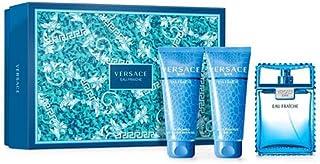 Versace Eau Fraiche 50ml EDT + 50ml Shower Gel + 50ml Shampoo, 150 ml