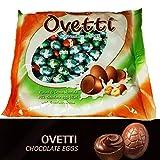 Huevos de chocolate con leche rellenos con crema de avellana bolsa 1kg...