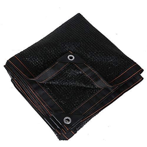Garten Sonnenschutznetz Schattiernetz 60% Shading Rate Sonnenschirm Net |atmungsaktiv Schwarz Sonnenschutz Netto-Tuch for Schatten Carport Terrassenpflanzen (Color : A, Size : 2x2.5m)