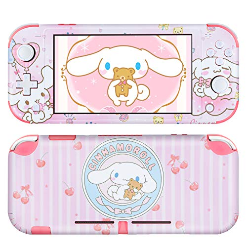 DLseego Switch Lite Skin Sticker Pretty Cute Pattern Full Wrap Skin Protective Film Sticker Compatible with Nintendo Switch Lite-Pink