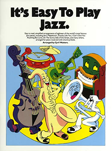 Piano, Vocal and Guitar (songbooks)-It's Easy To Play Jazz-Klavier-BOOK