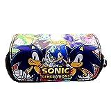 Sonic Astuccio Portapenne Hedgehog Riccio Astuccio Sonic Kids Pencil Case Portapenne Cosmetic Bag Storage Sacco Per Bambini Adolescenti Ragazzi Bambini Casa Ufficio Scuola