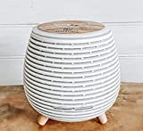 Aromatherapy Essential Oil Wooden Grain Diffuser with Auto Shut-Off Function | Cool Mist Humidifier for Yoga Spa Office Bedroom Home | 120ml (White)