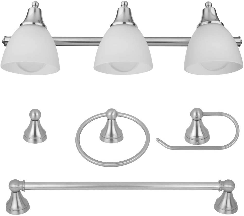 Globe Electric 50700 3-Light Ranking TOP12 Vanity Set P Bathroom Outlet sale feature 5 All-in-One