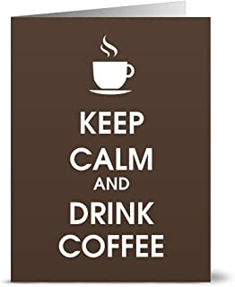24 Note Cards - Keep Calm and Drink Coffee - Blank Cards - Kraft Envelopes Included