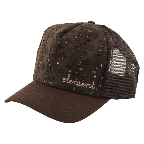 Casquette trucker snapback ajustable ELEMENT Holly Chocolate