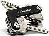 SIMPLONIZER - Il tuo portachiavi per massimo 16 chiavi - Portachiavi in edizione limitata - Il portachiavi del futuro - Custodia portachiavi in alluminio beige schwarz, silber-grau