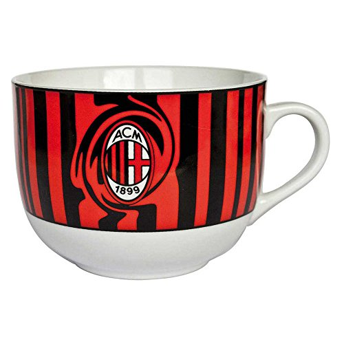Tognana OM085633002 Tazza Colazione Olimpia Milan, Porcellana, Rosso/Nero