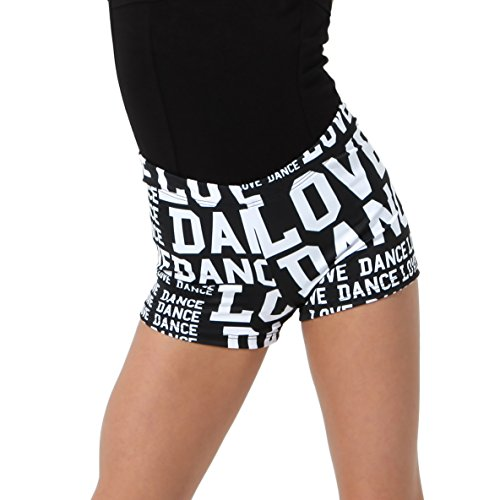 Love Dance Athletic Booty Shorts | Alexandria Collection | Kids Black/White