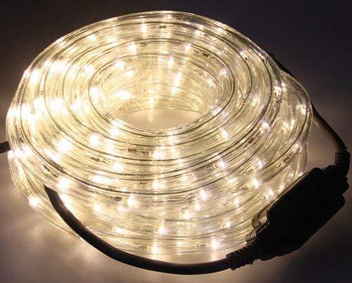 LED Lichtschlauch WARMWEISS 12 Meter - Ø 12mm, IP44 für Innen und Außen