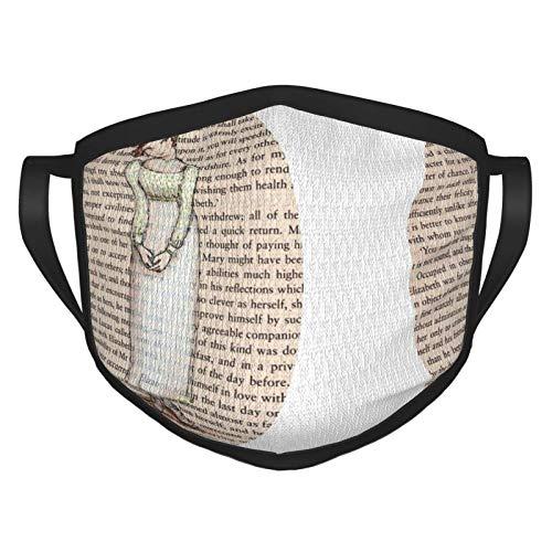 ZNABHNG Protector bucal, cojín de orgullo y prejuicio, alfombra persa, reutilizable, pasamontañas, lavable, para exteriores, para la nariz, para hombres, mujeres, color negro