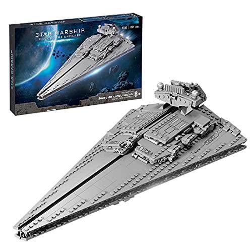 HEID Technik Zerstörer Bauset, Sternenzerstörer Modell UCS Super Star Destroyer Klemmbausteine Kompatibel mit Lego Star Wars - 891 Teile