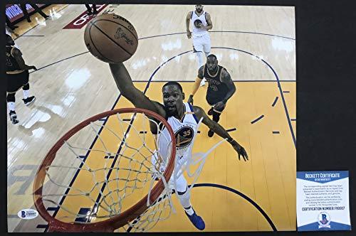 Best Deals! FINALS MVP! Kevin Durant Signed GOLDEN STATE WARRIORS 11x14 Photo #1 Beckett BAS