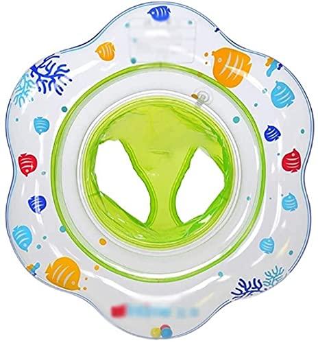 QUQU Inflable Natación Linda Anillo Flotante Inflable Fila Piscina boya de baño Infantil Anillo Piscina Ducha de Seguridad Auxiliar Anillo Flotante Anillo adecuados (Color: Verde)