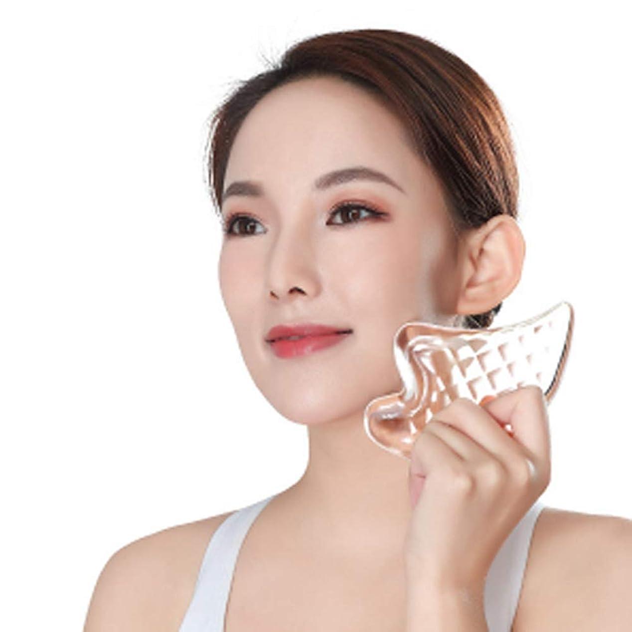 つなぐ損失加速するCangad かっさプレート 美顔器 高品質 3Dクリスタル 小顔 美顔グッズ 羽根型 ボディ マッサージ かっさマッサージ 刮痧 ウィング型 健康グッズ