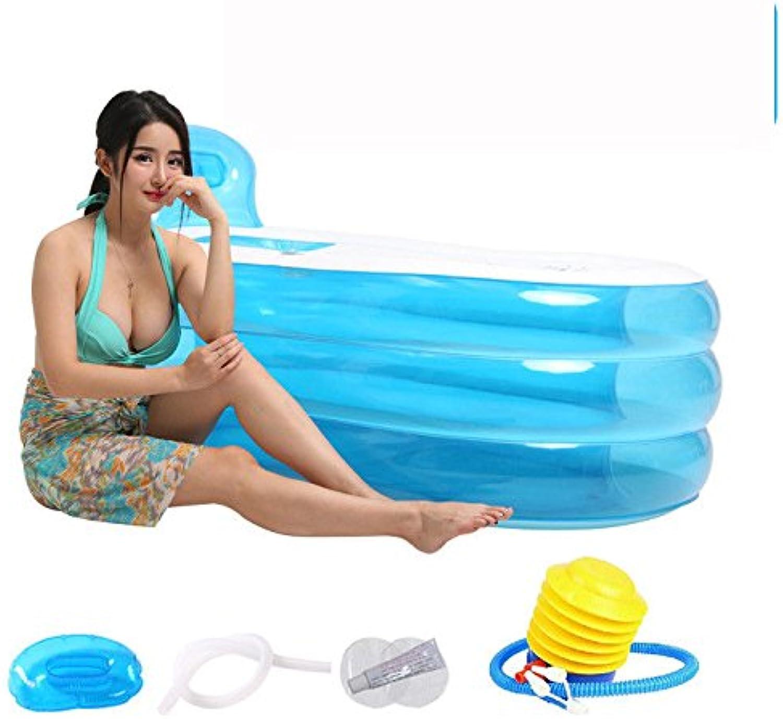 Nach aufblasbare Badewanne dicke Bad- und Duschwannen aus Kunststoff Eimer Kinder faltbare Badewanne Eimer, 1256870 cm