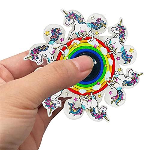 PERFECTHA Run The Fingertip Spinning Top - Juguete para aliviar el estrés Dinámico Fingertip Spinning Top Run Animado, Dinámico con la punta de los dedos Spinner, Giroscopio dinámico para brightly