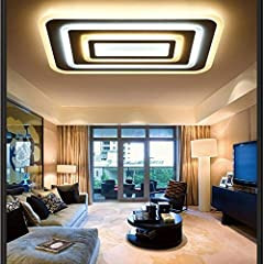 XYJGWDD 84W LED Ceiling Light Ultra Slim Modern Energy Saving LED Dimmable Ceiling Lamp for Living Room Bedroom Kitchen [Energy Class A (Color : White+internal heating) #5