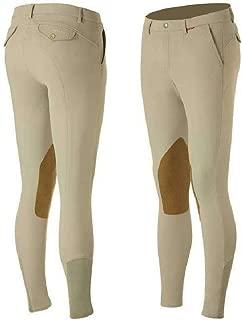 B Vertigo Sander Men's Leather Knee Patch Breeches