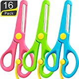 16 tijeras para niños de 5 pulgadas con punta roma para niños, para la escuela...