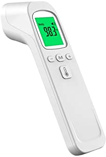 Infrared Digital Non-Contact Forehead Thermometer for Adults and Kids with Fever Alarm, Memory Function, LCD Display