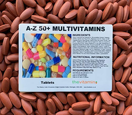 The Vitamin A - Z / 50+ Multivitamins Plus 365 Tablets - Bagged (Now Coated)