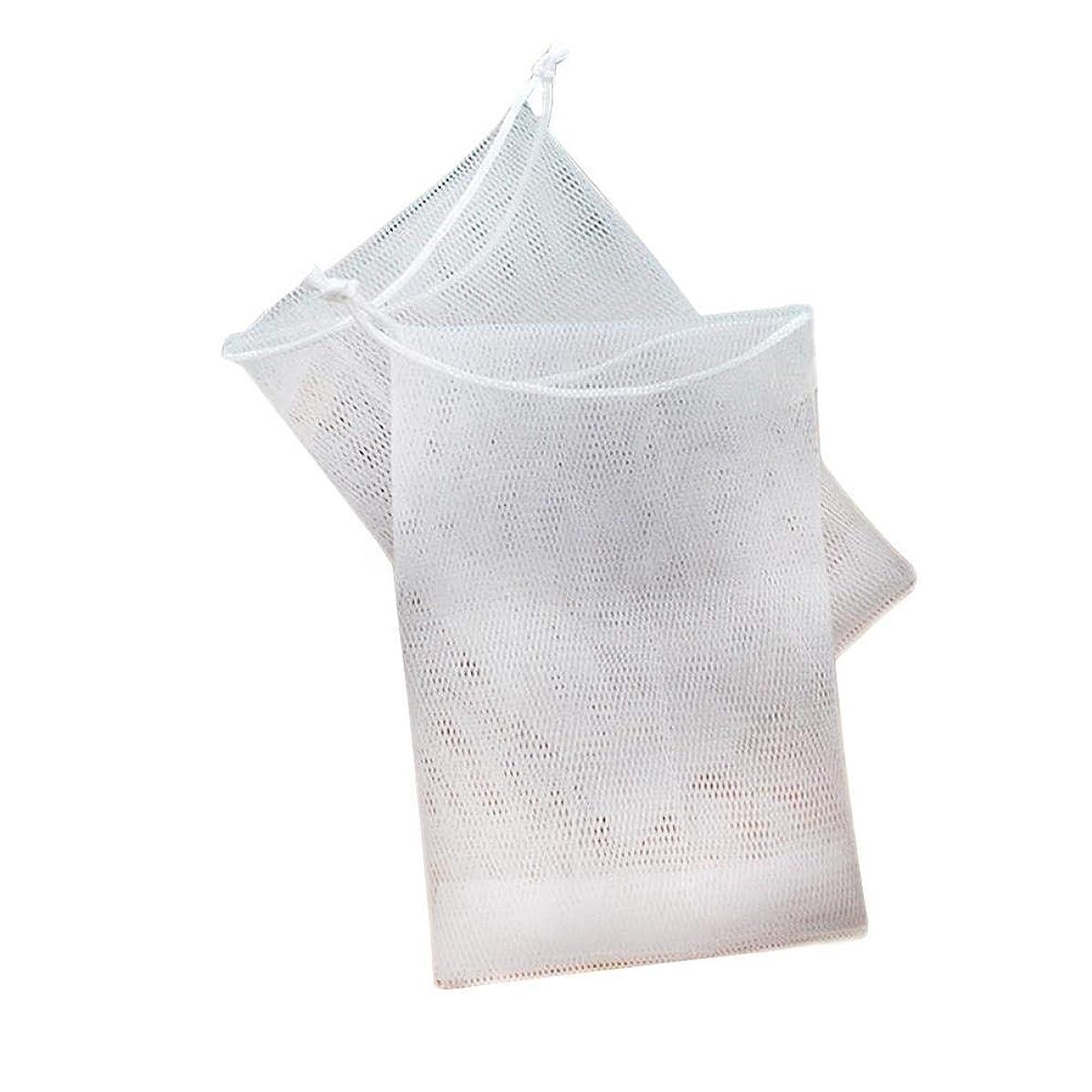 オン砂廃止石鹸の袋の網のドローストリング袋は ハンドメイドの石鹸の泡泡ネットメーカーのために掛けることができます 12×9cm