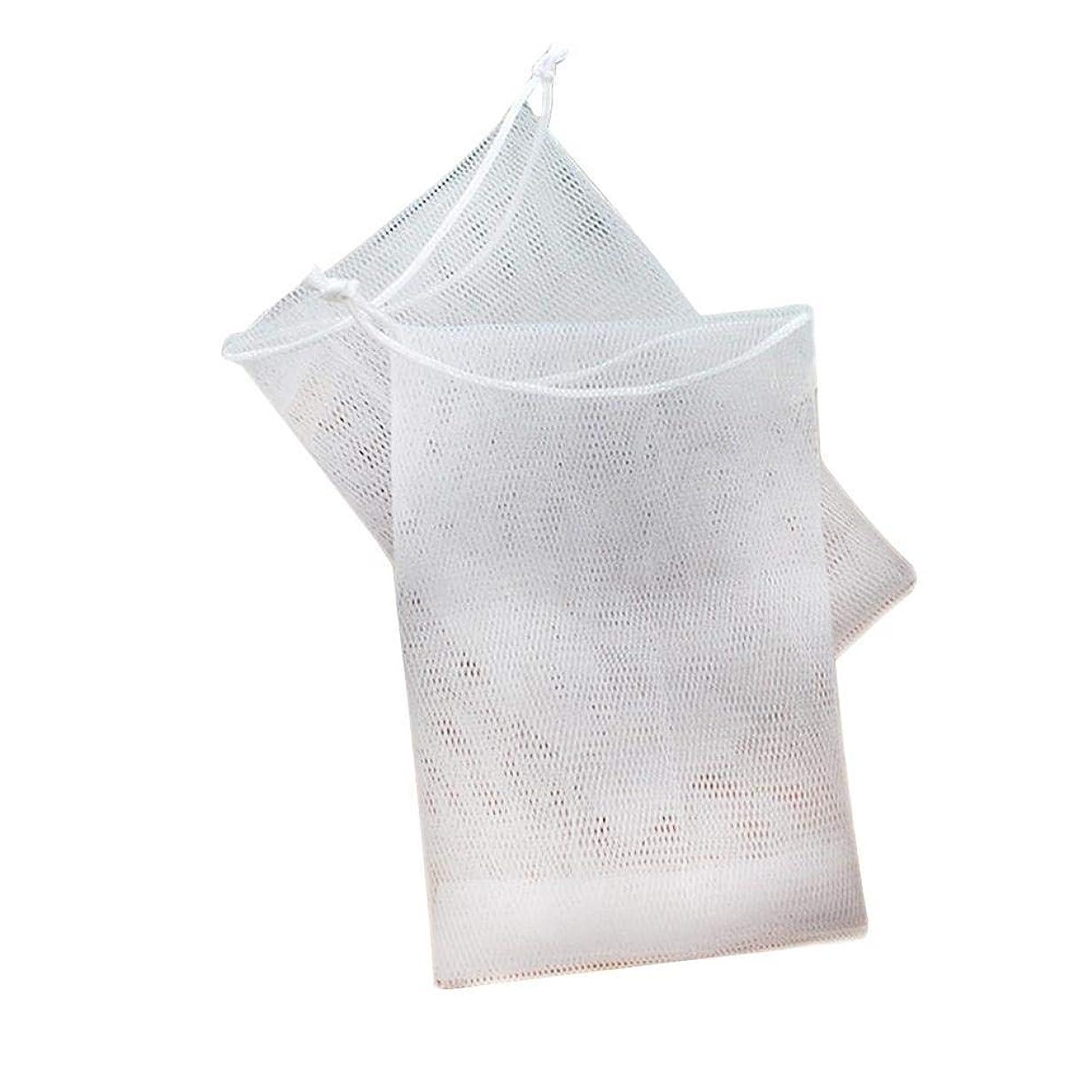 パスタ彼らのものスイス人石鹸の袋の網のドローストリング袋は ハンドメイドの石鹸の泡泡ネットメーカーのために掛けることができます 12×9cm