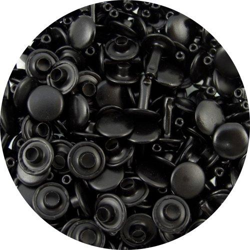 Black Large Double Cap Rivets 100pk