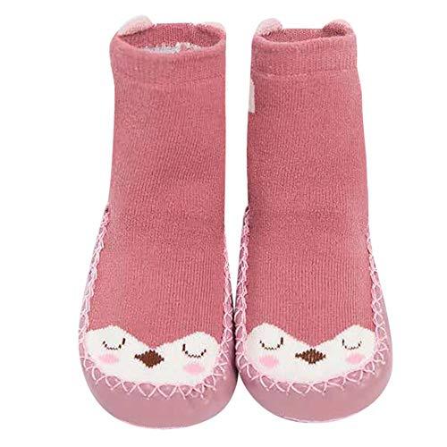Sensail 0-24mois Nouveau-né hommes et femmes de bande dessinée chaussettes de plancher de fond épais de tissu anti-dérapant épais chaussettes enfant chaussettes à imprimé animal