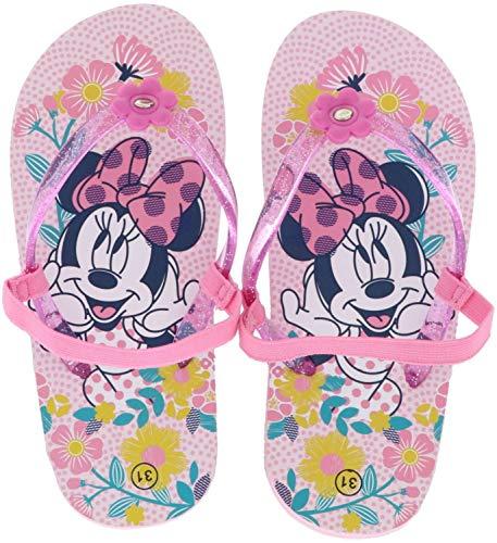 Leomil Kinder Mädchen Zehentrenner Badeschuhe Minnie Mouse pink/Mehrfarbig, Farbe:Pink, Größe:25