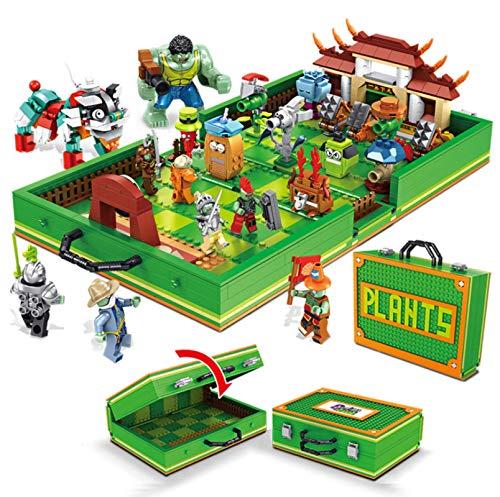 Plants Vs Zombies con Conjunto De Figuras Kung Fu World Building Blocks Ladrillos Figuras De Acción Compatibles Juguetes para Niños Regalos