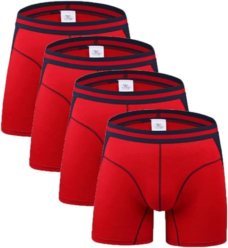 DIAOD Long Leg Mens Boxers Shorts Male Panties Slip Underpants U-Convex Man Underwear (Color : Multicolor 1, Size : L Code)