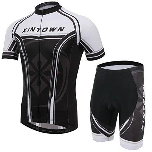 Baymate Hommes Maillots de Cyclisme Respirant Manches Courtes Vêtements de Cyclisme Confortable Pantalon des Sports