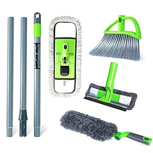 Guay Clean Home Cleaning Kit with 4 Ft Steel Pole - Includes:...
