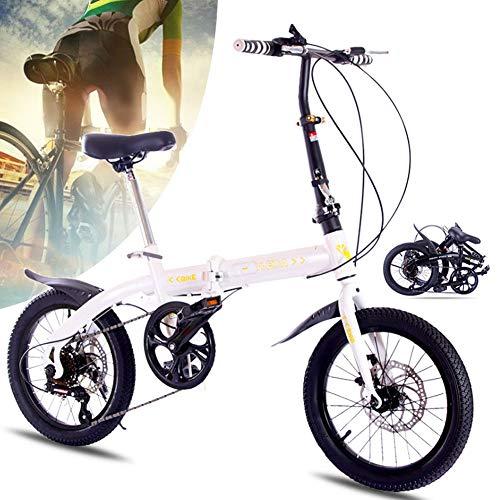 Bicicleta Plegable de Aluminio de 16 Pulgadas, Bici Mujeres de la Bici...